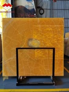 Buy cheap Translucent Honey Onyx Slab Amber Marble Antique Bookmatch Orange product