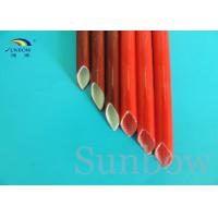 Buy cheap Red Color heat resistant silicone rubber fiberglass sleeving high temperature product