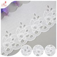 Buy cheap Cotton Netting Trim / Custom Embroidered Lace Trim By The Yard For Decoration product