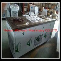 China Double Pan 6 Buckets Thailand Fried Ice Cream Rolling Machine/ Ice Cream Roller Machine on sale