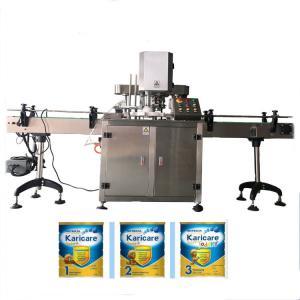 Buy cheap Jar Can Tin plastic sealing machine can tin seamer Shanghai supplier wrap around case packer product