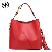 Buy cheap plain leather tote bag with tassel cow leather bag women Multi-function top quality purses leather and handbags luxury product