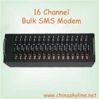 Buy cheap low cost 16 port bulk sms modem with Wavecome chip, gsm sms modem product