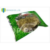 Buy cheap Glossy Green Printed Laminated Pouches 3 Side Seal Aluminm Foil Clear Window product