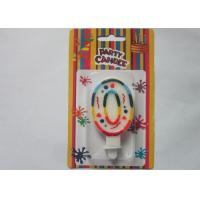 Buy cheap Rainbow Novelty Number Birthday Candles Decorative Number Zero Candle for Party from Wholesalers