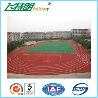 400 Meters outdoor sports flooring Full Polyurethane System Athletic