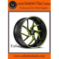 Buy cheap Black and Red Forged Custom Wheels 13 - 15KG 20 Inch Car Rims product
