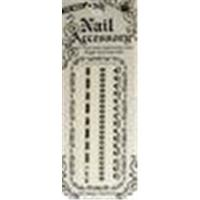 Buy cheap OEM EN - 71 Approved Black And White Pretty Lace Nail Sticker Art product