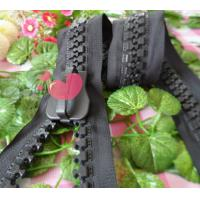 Buy cheap Long No.15 Metal Derlin Resin Zipper Black For Garment , Reversible product