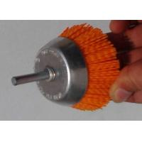 China Yellow 3 Inch OD Nylon Abrasive Cup Brush 120 Grits For Cleaning Stone on sale