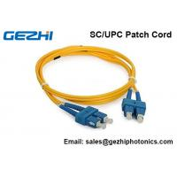 China 3D Passed Optical Fiber Patch Cables SC / UPC - SC / UPC single mode jumper cord on sale