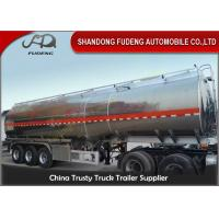 Quality 45 cbm FUWA axle petrol fuel tanker semi trailer aluminium alloy sale for sale
