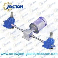 Two Worm Gear Screw Jack Systems Bevel Gearbox Drive