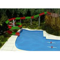 China 2 Person Outdoor Swimming Pool Slides For Family Resort / Adventure Park Water Slide on sale