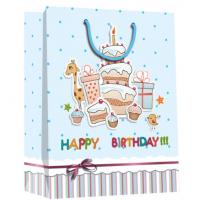 Buy cheap Good quality birthday design paper bag with glossy /shinny lamination product