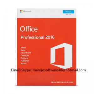 Buy cheap English Professional Office 2016 Retail Box PKC FPP Origianl Key product