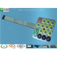 China Wire Drawing Treatment Metal Dome Membrane Switch Mirror Effect Silver PC Overlay on sale