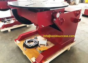 China 2Ton Pipe Welding Positioner, Automatic Welding Positioner Turntable With Hand Control Box And Foot Pedal on sale
