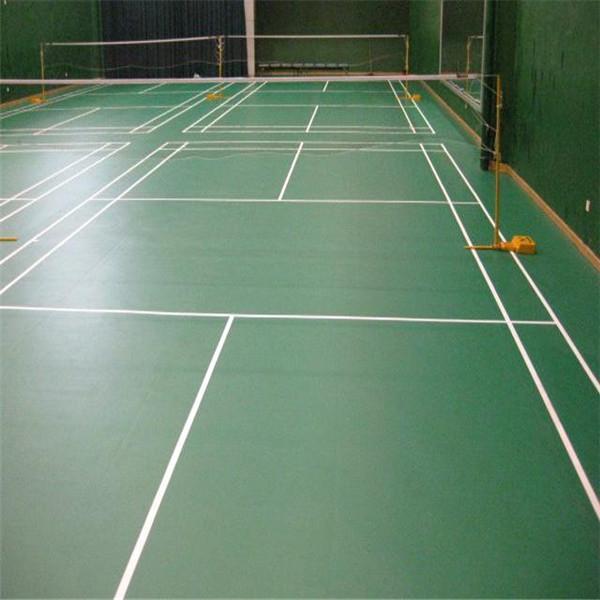 Badminton court sports flooring sport court of for Sport court floor