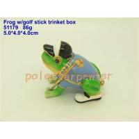 Buy cheap Pewter frog w/ golf stick Jewellery Box ( 51179) product