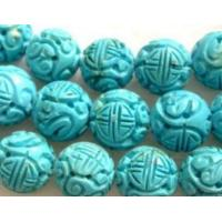 Hf-52553 Carved Turquoise Beads