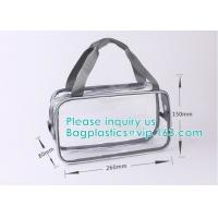 travel carry on airport clear pvc makeup bag, Toiletry Beauty Makeup Cosmetic Bag, travel accessories pvc makeup bag wit