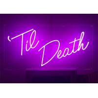 Buy cheap 24 inch Height Custom Made Pink Color LED Lighting Neon Sign for Event product