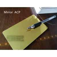 Buy cheap Gold Mirror Aluminum Composite Panel Thickness 4mm For Room Decoration product