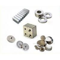 China Strong NdFeB Permanent Magnet / Neodymium Button Magnets Customized Sizes on sale