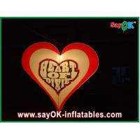China 190T Nylon Cloth Inflatable Lighting Decoration Heart Shape Love For Party on sale