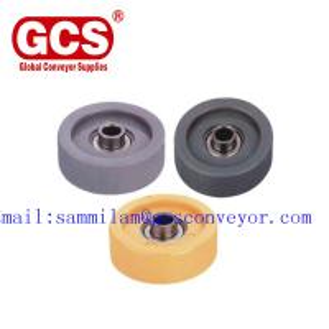 China Customizable industry roller-skate-wheel/GCS roller skate wheel/50*50Rubberized Fulai Wheel /galvanized Fulai wheel on sale