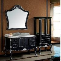 Buy cheap Espresso Shaker Traditional Bathroom Cabinet with Side Cabinet (SE1201) product