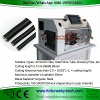 Buy cheap Automatic Armoured Tube Cutting Machine Apply For Corrugated Aluminum Foil Tube from wholesalers