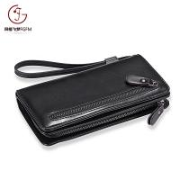 China Fashion large capacity style long ladies purse women clutch wallet guangzhou factory zipper bifold back-pull wallets on sale