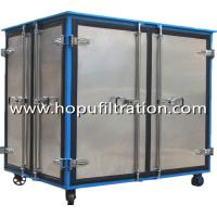 Buy cheap Enclosed Canopy oil filtration machine for transformer breakdown voltage,transformer oil processing rig,high vacuum equi product