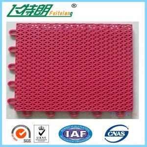 Custom PP Interlocking Rubber Floor Tiles High UV Resistant Anti Aging With Holes