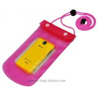 Buy cheap 0.3mm Non-toxic Vinyl Water-Tight Phone Pouch for Smart Phone with Sanp Buttons product