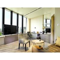 Quality Fashion Apartment Hotel Room Furniture Wooden Headboard with Storage Bed and for sale