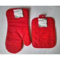 Buy cheap Red Finger Oven Mitts Heat Resistant Kitchen Gloves 7 x 13 Inch product