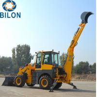 Buy cheap Yunnei Engine Caterpillar Backhoe Loader , 76KW Front Loader Tractor product