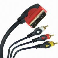 Buy cheap AV Double Color SCART Cable Assemblies with 4, 5 and 6mm Outer Diameter product