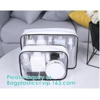 transparent cylinder zip PVC tube bag with hang hook for storage underwear portable PVC, Tube Cylindrical PVC packing Ba