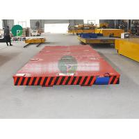 Buy cheap Heavy Die transfer Car Electric Motor Driven Rail Flatbed Transfer Trolley For Industry Foundry Parts Handling product