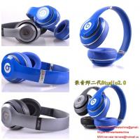 Buy cheap Blue/silver beats studio 2.0 v2 headphone by dr dre with cheap price and 2014 new version product
