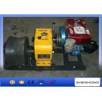Buy cheap 50KN Diesel Wire Rope Winch / Belt Driven 400MM Diameter Cable Drum Winch product
