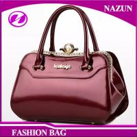 Buy cheap 2017 New designer European durable custom-made fashion glossy classical rose red pu leather ladies bags handbags product