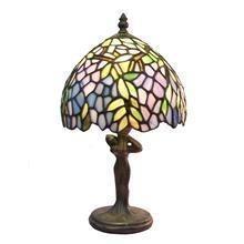 Buy cheap TL080006-Leaf table lampes tiffany lady figurine zinc alloy/polyresin tiffany lamp base product