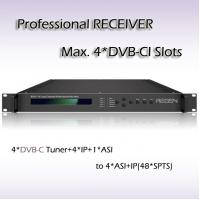 Buy cheap RSR1114 Four-Channel Professional Receiver DVB-C TO IP and ASI IRD with CAM product