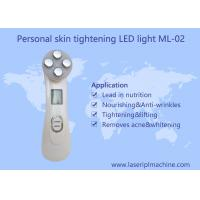 Buy cheap Mini home use facial beauty device 6 color ultrasonic led lights photon face from wholesalers