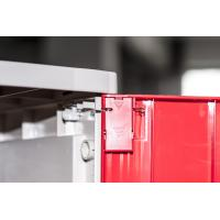 Corrosion Proof ABS Plastic Lockers Red Door 5 Tier Lockers With Clover Keyless Lock